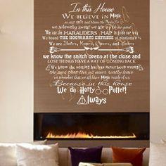 We Do Harry Potter Vinyl Wall Decal ....E00162