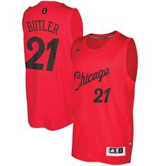 b455e77df1f Men s Chicago Bulls Jimmy Butler adidas Red 2016 Christmas Day Swingman  Jersey