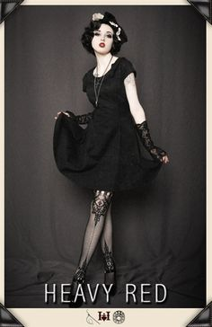Kiss and Told Gothic Dress - HeavyRed(essential gothic fashion shop in case you didn't know)