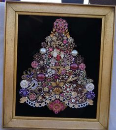 LAYAWAY AVAILABLE!! CONTACT ME TO MAKE ARRANGEMENTS!    GORGEOUS, OOAK FRAMED CHRISTMAS TREE FOR THE FLOWER LOVER!    TREE TOPPER and TREE BASE