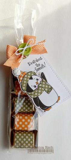 Adorable Christmas Penguin Tag by Jessica Esch using Peachy Keen Stamps July 2013 SKOTM
