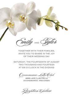 Wedding Invitation Orchid Design by cdkane59 on Etsy, $4.25