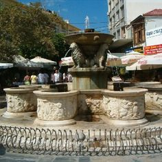 Heraklion, Crete, Morosini Lions Fountain, from Dad and Mom's home. Crete Island, Heraklion, Crete Greece, Lions, Places Ive Been, Islands, Fountain, Stuff To Do, Landscapes