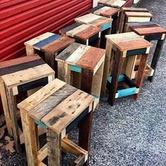 beautiful pallet side table