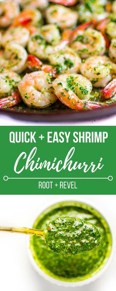 In less than 10 minutes, this INSANELY flavorful and healthy shrimp chimichurri sauce will wow everyone at your table. Easy and so delicious!