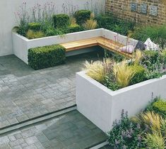 86 Best Built In Garden Seating images | Garden seating ... on Back Garden Seating Area Ideas id=89296