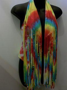 Tie dye shirt vest top hippie boho top festival wear by LamaLuz, $42.00