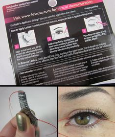 And now, eyelashes for people like me who wonder how any woman has ever been able to do this! I've been SO frustrated with trying to put fake lashes on that I didn't even try on my WEDDING DAY. lol! Kiss Premium False Eyelashes with Application Strings