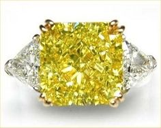 Yellow diamond.