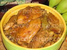 Any adobo recipes is my filipino food favorite like this adobong manok. Adobo may be done with beef, chicken, pork or a combination. If you want more Adobo