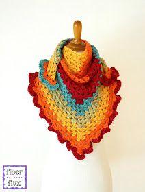 Fiber Flux: Free Crochet Pattern...Happy Go Lucky Shawlette!