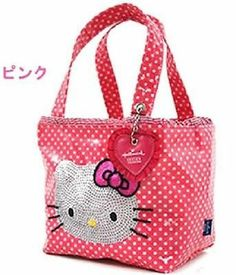 Hello Kitty x Hallmark Mini Tote Bag Lunch Purse Pouch Pink Sanrio Japan Gift