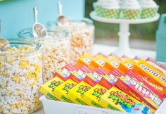 Summer evenings are the perfect time to host a backyard movie night! Happy Wish Company shares some inspiration for setting up your own concession stand. Backyard Movie Night Party, Movie Theater Party, Outdoor Movie Party, Creative Party Ideas, Easter Celebration, Party Entertainment, Party Time, Summer Plan, Birthday Ideas