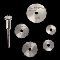 6 Unids Mini Disco De Corte Hoja de Sierra Circular HSS Cortador de Disco de Diamante Circular Abrasiva Mini Taladro Dremel Herramientas Accesorios de Torio