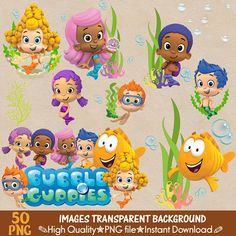 89 Best Bubble Guppies Clipart images in 2019 | Guppy, Vw