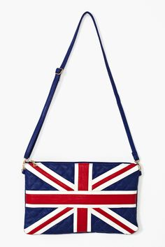 Union Jack Quilted Clutch