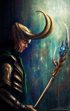 Loki Thor fan art