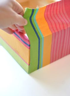 Covering baskets and jars with fabric on pinterest for Fabric covered boxes craft