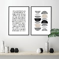 Downloadable set of 2 scandinavian prints Printable mid   Etsy Printing Services, Online Printing, Rose Gold Wall Art, Dorm Posters, Living Room Accessories, Wall Maps, Grey And Beige, Dorm Decorations, Handmade Shop
