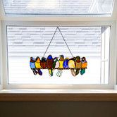 Saw this at pampered pet  Birds On A Wire Stained Glass Window Panel
