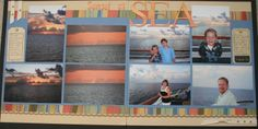 Sunset at Sea: Retired CTMH Moon Doggie paper & Extreme Happiness stamp set. www.clearly.myctmh.com