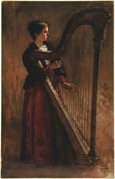 The Harpist. Jacob Maris (Dutch, 1837-1899). Watercolor with gouache. Musée des Beaux-Arts de Montréal. Maris was the son of an etcher and lithographer. He studied first at the Antwerp Academy and then in Paris (1865–71). His early work contained...