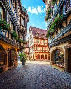 Colmar in France. Colmar Alsace, Alsace France, Wonderful Places, Beautiful Places, Places To Travel, Places To Visit, Lascaux, France Photos, Next Holiday