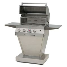 Solaire Deluxe Pedestal Gas BBQ Grill - 27"