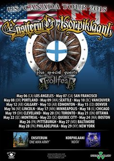 ENSIFERUM: Finnish Folk Metal Titans Announce North American Tour With Korpiklaani // #SwitchBitchNoise #SBN