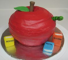 how+to+make+a+apple+shaped+cake | This is an apple cake I made for Cara's 2nd grade teacher's birthday ...