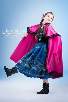 Click here to shop Frozen Anna Princess Costume by Ella Dynae, $270.00 #disney #letitgo #elsa