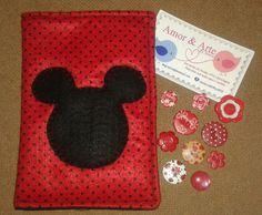 Capa para celular em tecido Mickey