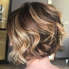 Balayage on a short bob warm browns and coppers using @kenraprofessional #kenraprofessional #modernsalon #behindthechair