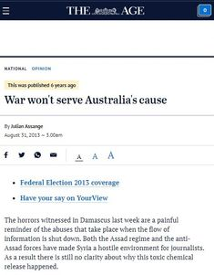 What Australian interests are served by going along with a US-led intervention in Syria? Press Release, Syria, 6 Years, Presentation, Australia, War, Writing, Sayings, Word Of Wisdom