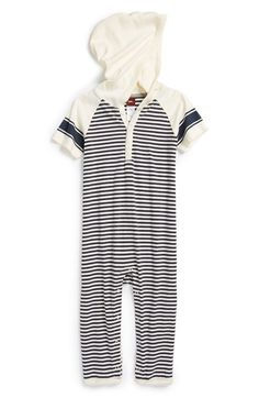Tea Collection 'Baltic' Hooded Romper (Baby Boys) available at #Nordstrom