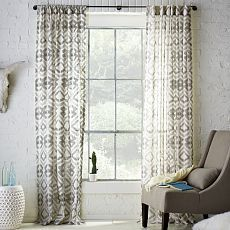 curtains for bedroom: Tali Printed Window Panel, West Elm