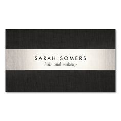 Modern Black Silver Striped Professional Double-Sided Standard Business Cards (Pack Of 100). This great business card design is available for customization. All text style, colors, sizes can be modified to fit your needs. Just click the image to learn more!