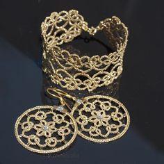 Koroneczka - rękodzieło artystyczne: Biżuteria frywolitkowa