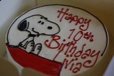 Snoopy cake - round and simple