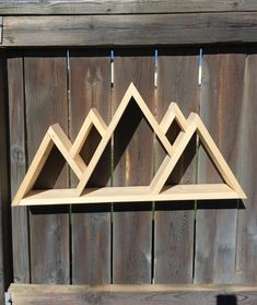 check out this beautiful handmade mountain shelf which would make a perfect addition to any home