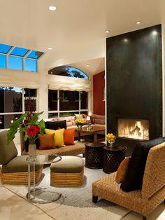 Asian Living Room by Jane Ellison