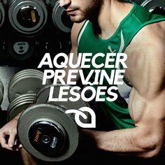 Antes de cada exercício, aqueça fazendo uma série de 12 repetições com 50 a 60% da carga que você utiliza. É a melhor forma de prevenir lesões.