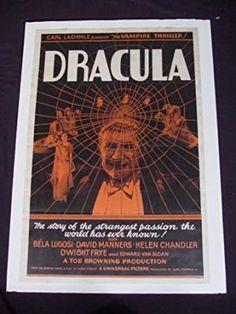 Dracula 1931 Original 27x40 One Sheet Bela Lugosi Vampire Movie