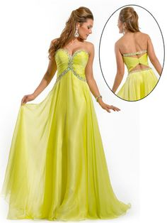 Yellow Strapless Dress love the back!!!!!