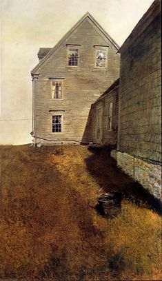 Andrew Wyeth 'Weatherside' 1965 tempera on panel Andrew Wyeth Paintings, Andrew Wyeth Art, Jamie Wyeth, Arte Naturalista, Night Pictures, Digital Museum, Guache, Country Art, Tempera