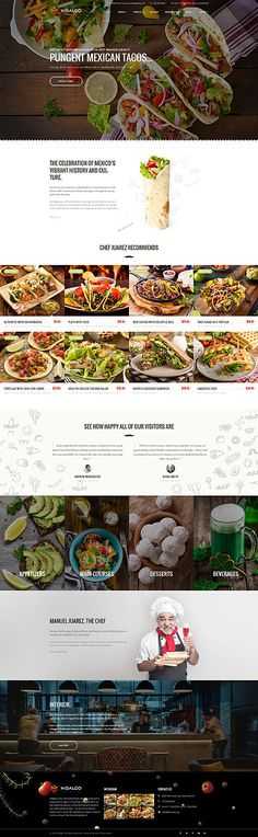 Mexican Tacos Restaurant #Wordpress #template. #themes #business #responsive #Wordpressthemes