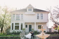 March 2013 Wedding at the Heritage Museum of Orange County - Photo taken in front of the historic Kellogg House - Ceremony at the Gazebo Lawn - Photo by Luis Godinez Photography - Catering provided by Country Garden Caterers & Rentals by Signature Party Rentals