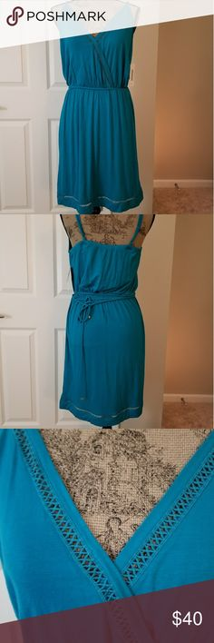 Cute Just fab summer dress Beautiful color blue summertime dress. Nice cutout trim. JustFab Dresses
