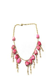 ARIABA PINK TURQUOISE NECKLACE  #ARIABA  #AfricanFashion #NigerianFashion #BuyNigerian   Available at http://lespacebylpm.com/