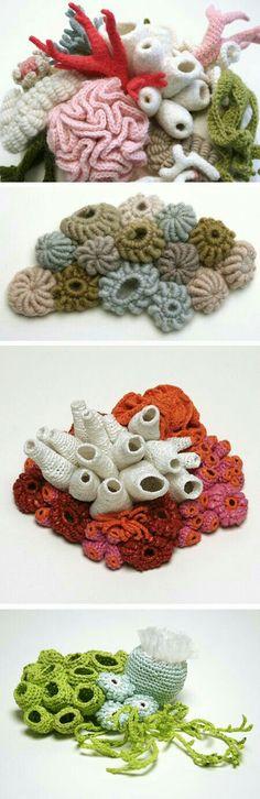 46 Best Crochet Coral Reef Images On Pinterest Yarns Crochet